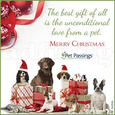 the best gift of all is the unconditional from a pet merry