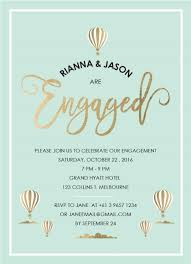 engagement party invites is in the air metallic engagement invitations
