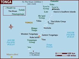 tonga map map of tonga