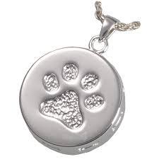 pet ash jewelry paw print bones pet urn pendant