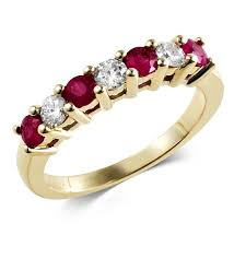 ruby eternity ring 9ct 18ct gold diamond ruby sapphire emerald eternity ring