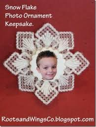 snowflake ornaments plastic canvas pattern from e