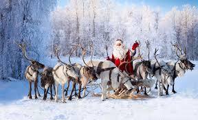 santa sleigh and reindeer santa s sleigh is pulled by reindeer