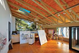 plywood flooring ideas for a contemporary with a accent color