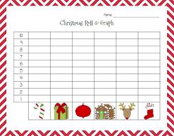 christmas roll u0026 graph printable activity