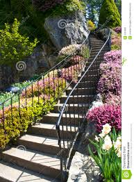garden staircase stock image image of rail natural outdoor
