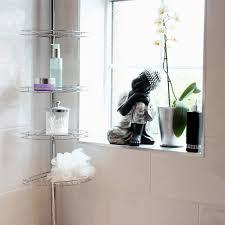 metal corner shower bathroom tidy basket caddy shelf storage