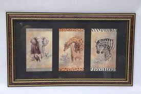 home interiors picture frames home interiors picture framed print collectible elephant zebra