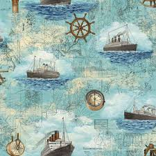 Map Bedding Fashion Wallpaper Murals Kids Room Pirates Sailing Map Pattern