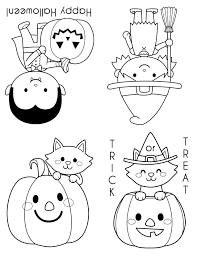 trick or treat coloring pages contegri com