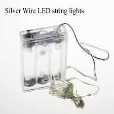 copper wire lights battery copper wire led string lights battery powered 2m 20leds 4 5v led