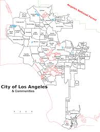 Map Of Beverly Hills Los Angeles by File Map Of Los Angeles And Communities With Names Svg Wikimedia