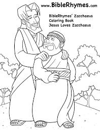 Jesus Loves Biblerhymes Zacchaeus Coloring Book Zacchaeus Coloring Page