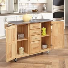 Hayneedle Kitchen Island by Home Styles Stainless Steel Top Kitchen Cart With Breakfast Bar
