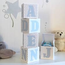 lettre chambre enfant cubes lettres prénom en épais et tissu imprimé pour chambre