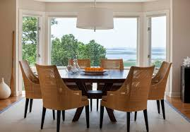 Woven Dining Room Chairs Woven Dining Chairs Room Rustic With Wood Table Round Tables