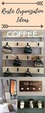 rustic organization ideas rustic towel blanket ladder mug hooks