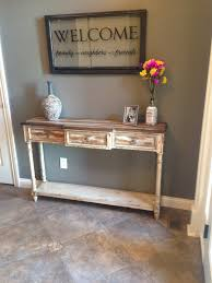 Narrow Foyer Table by Our Rustic Foyer Table Home Ideas Pinterest Foyers Foyer