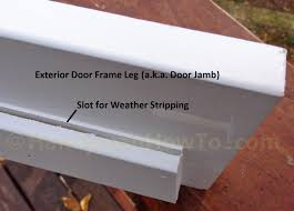 How To Install An Exterior Door Frame Rotted Exterior Door Frame Splice Repair Handymanhowto