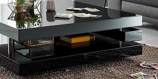 Wohnzimmertisch Quadratisch Couchtisch Schwarz Hochglanz Quadratisch Piazza 100x100cm