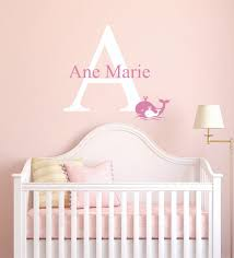 wall decor home decor home living custom name initial whale animal series baby girl decoration mural wall decal sticker