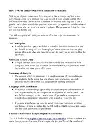 resume objectives writing tips resume objective writing tips paso evolist co