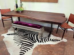 Fire Retardant Rug Decoration Interesting Plush Brown And White Faux Zebra Skin Rug