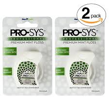 amazon com pro sys premium mint dental floss 2 pack of dental