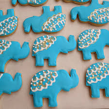 moroccan baby shower dough and batter elephant cookie favors for a moroccan themed