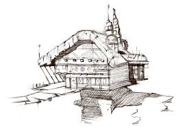 treasure planet house sketch by shikee on deviantart