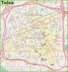 map of tulsa large detailed map of tulsa
