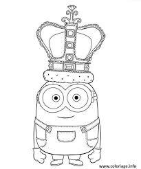 Coloriage Le Roi Minion dessin