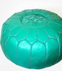 Green Ottoman Moroccan Ottoman Green Leather Pouf Op00024 Babafric