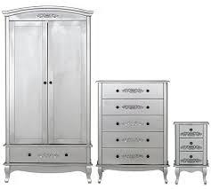 buy collection sophia 3 piece 2 door wardrobe package silver at