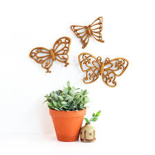 Wise Decor by Vintage Butterflies Wall Decor By Homco U2013 Wise Apple Vintage