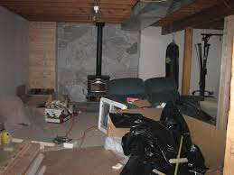 basement progress before