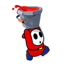 shy guy paper mario color splash artwork thevideogamegallery com