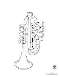 trumpet coloring pages reading u0026 learning drawing for kids