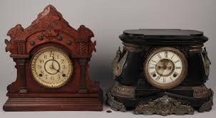 Mantel Clocks Lot 574 Lot Of 2 Mantel Clocks Ansonia U0026 Seth Thomas