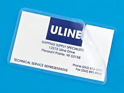 business card laminator business card laminating pouches 10 mil s 16232 uline
