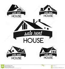 House Silhouette by House Logo Template Set Stock Vector Image 54434110