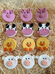 farm cake toppers edible fondant cupcake cookie toppers farm animals