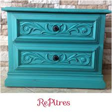 Black Nightstand With Drawers Bedroom Turquoise Nightstand With Black List And Drawers For Home