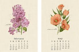 botanical calendars vintage botanical 2017 calendar live laugh rowe