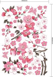 accessories astonishing white walls with cherry blossom wall