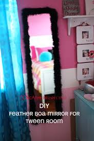 Easy Bedroom Diy Perspective Easy Diy Feather Mirror For Tween Room Perspective