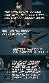 Reese Meme - reese chloriscariot betrays bunny jesus rwby know your meme