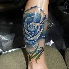 rose blue calf tattoo ideas tattoo designs