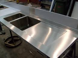 stainless steel countertop with built in sink bar prep sinks fancy medium round corner square single basin