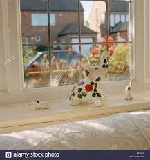 window sill in living room with ornament stock photo 5285572 alamy